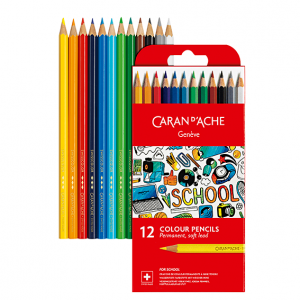Barvice Caran d'Ache School Line - 12 barv
