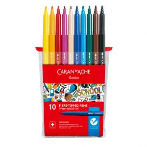 Flomastri Caran d'Ache School Line - 10 barv