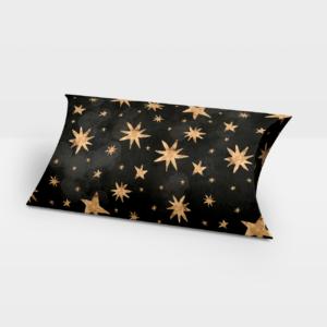 Darilna škatlica Golden Star Black - Pillow