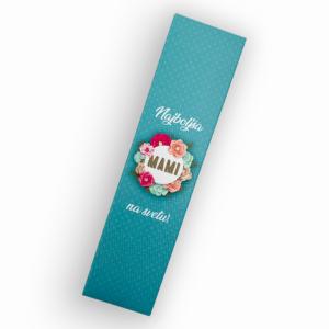 Darilna škatlica Mami, Turkiz - za svinčnike